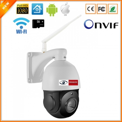 4'' High Speed Dome PTZ IP Camera 18X Zoom Wifi Wired 1080P Waterproof Security Camera