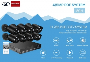 ESP CCTV - 8CH POE NVR Kit - (8) 4MP Waterproof Cameras