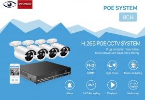 8ch poe 4MP camera kit bundle